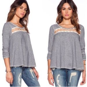 Free People Lacey Love French Terry Sweater
